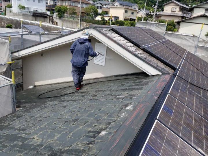 高圧洗浄 一戸建て 業務量 浜松市外壁塗装屋根専門店の加藤塗装