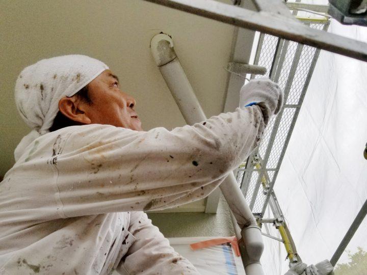 一戸建て住宅 家 塗替え ペイント 雨どい 樋 浜松市外壁塗装屋根専門店 加藤塗装