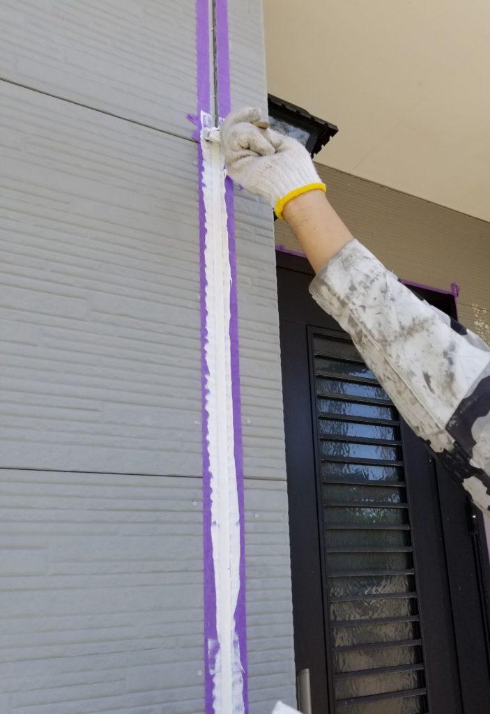 シーリング コーキング へら 一戸建て住宅 家 マイホーム 補修 修理 浜松市外壁塗装 屋根専門店 加藤塗装