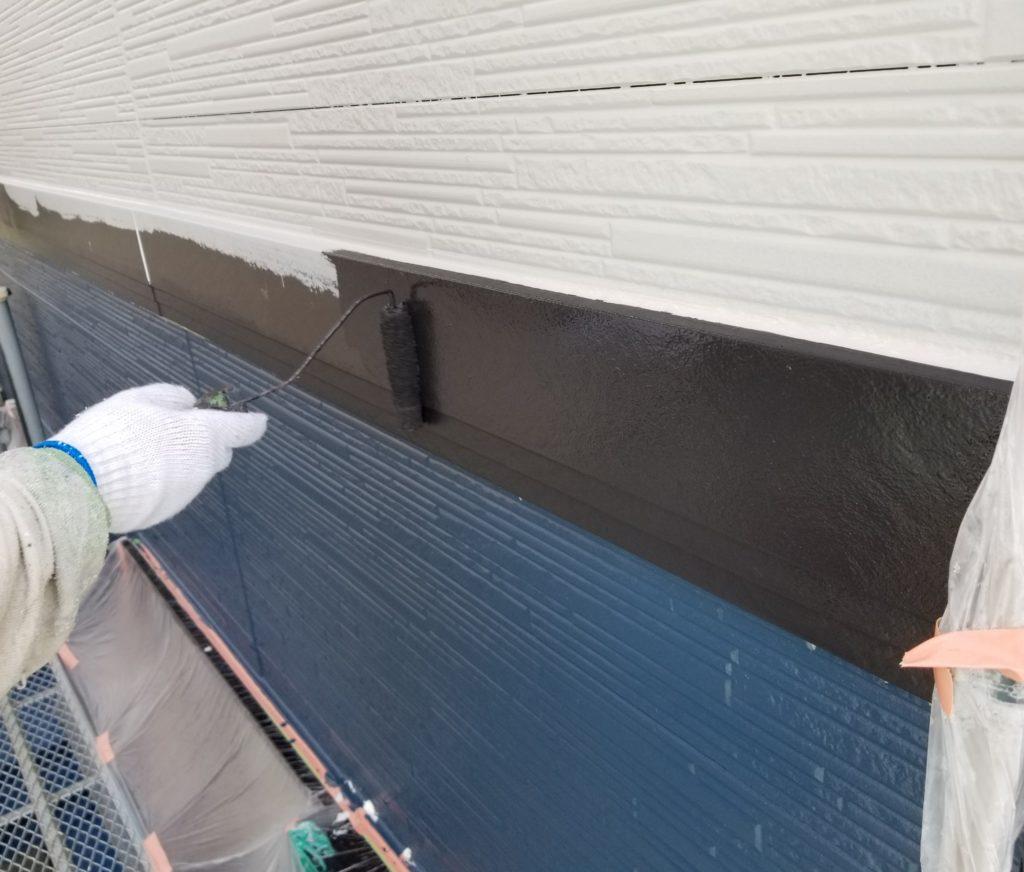 南区 一戸建て住宅 幕板 ツートンカラー 浜松市外壁塗装 屋根専門店 加藤塗装
