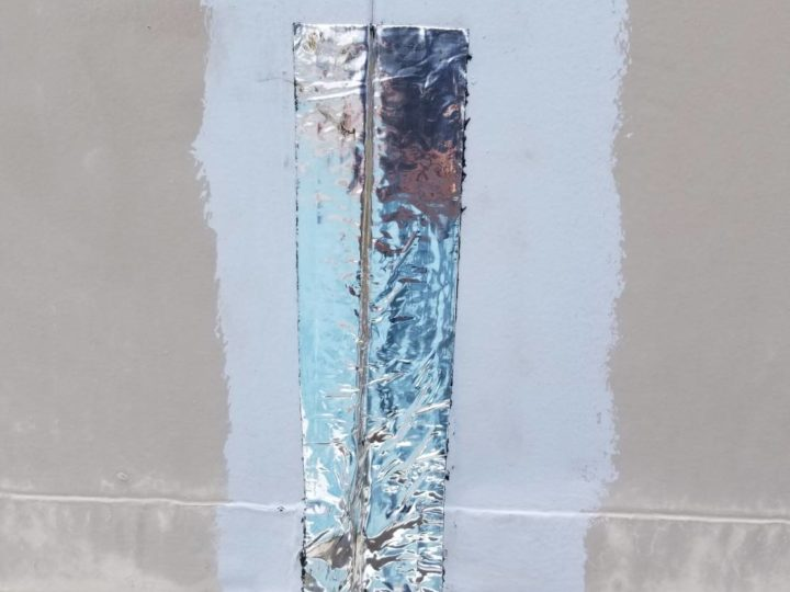防水テープによる補修
