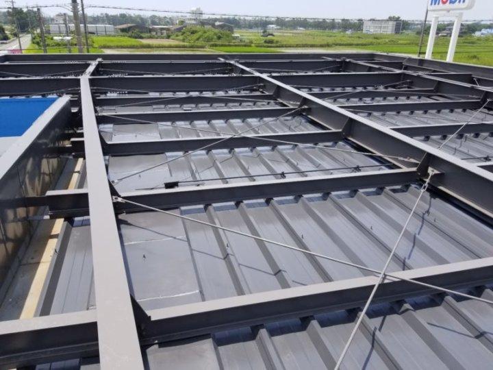 鉄骨屋根 塗替え ガソリンスタンド 店舗 浜松市外壁塗装屋根専門店の加藤塗装