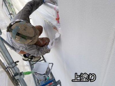 ALC外壁 塗替え 上塗り 刷毛 浜松市外壁塗装屋根専門店の加藤塗装