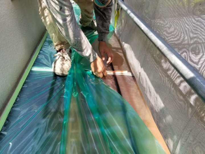 一戸建て 塗替え 養生 リフォーム リノベーション 工事 浜松市外壁塗装屋根専門店の加藤塗装