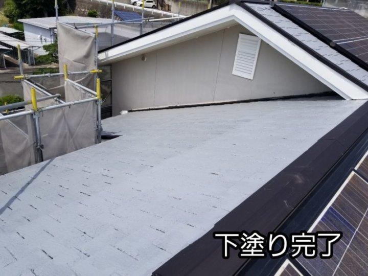屋根塗替え カラーベスト シーラー 下塗り 浜松市中区 浜松市外壁塗装屋根専門店の加藤塗装