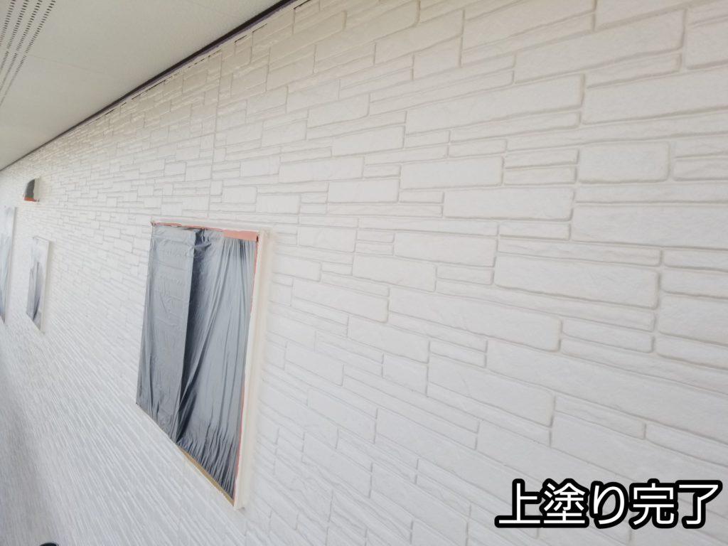 レンガ調サイディング 上塗り塗装 ペンキ ペイント 浜松市外壁塗装屋根専門店 加藤塗装
