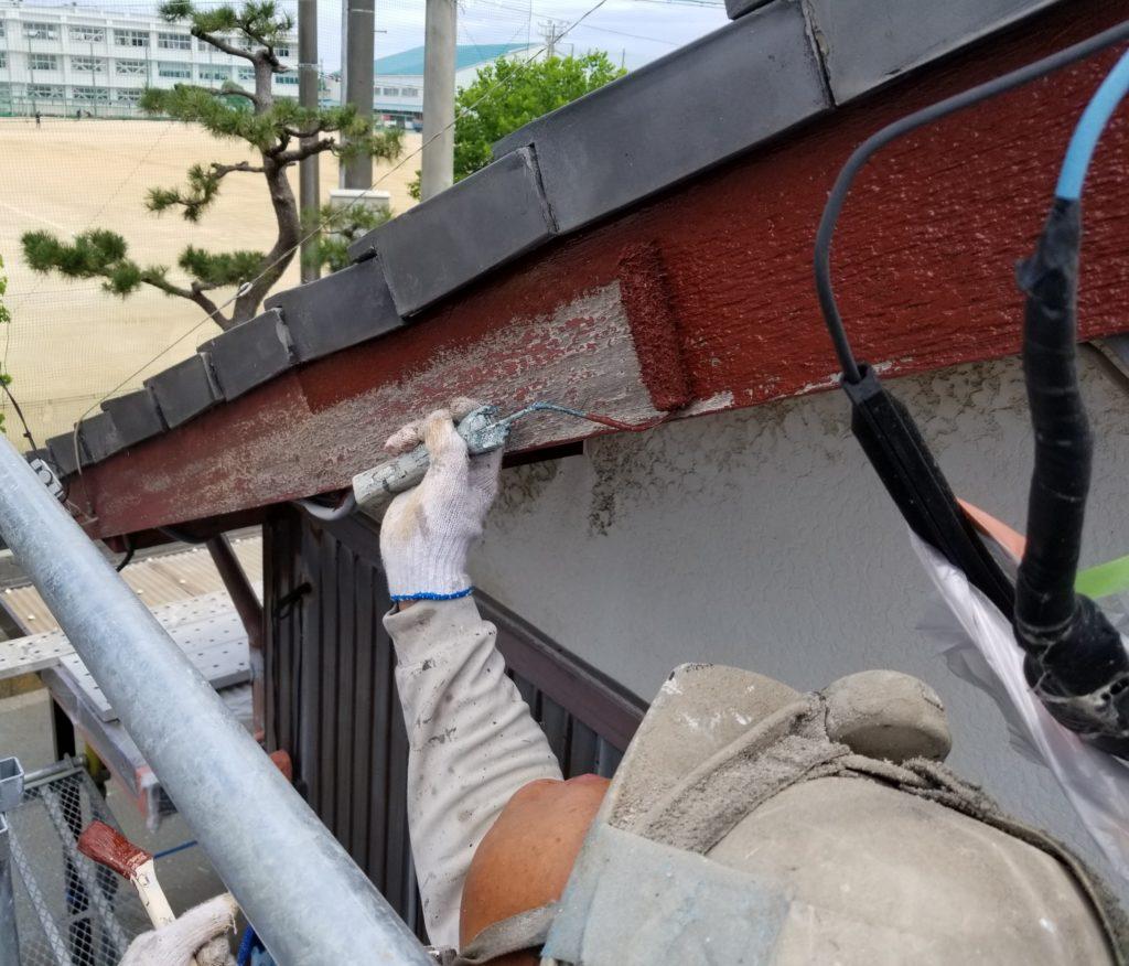 借家 塗替え 下塗り塗装 南区 木部 浜松市外壁塗装屋根専門店の加藤塗装