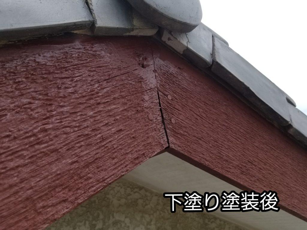 借家 塗替え リフォーム 工事 下塗り 木部 浜松市外壁塗装屋根専門店の加藤塗装