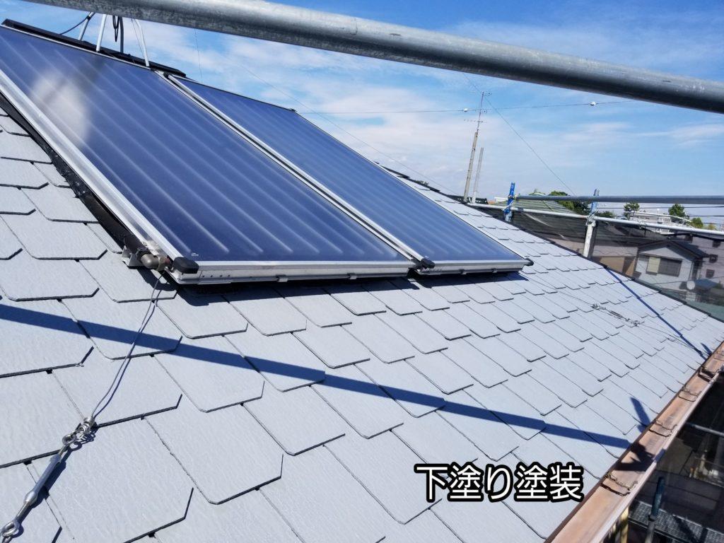 屋根塗り替え カラーベスト うろこ屋根 二階建て 家 浜松市南区外壁塗装屋根専門店 加藤塗装