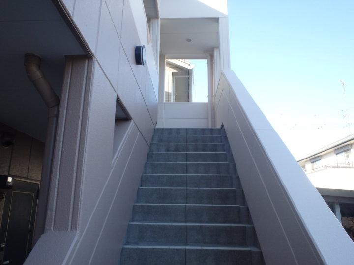 階段部上塗り後