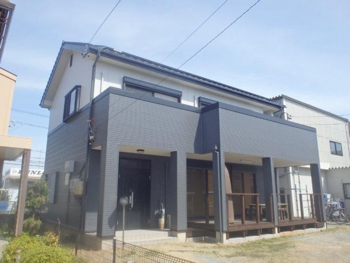 浜松市東区丸塚町にてハイブリットシリコンにて外壁塗装及びシーリング改修工事完成。浜松市外壁塗装屋根専門店の加藤塗装
