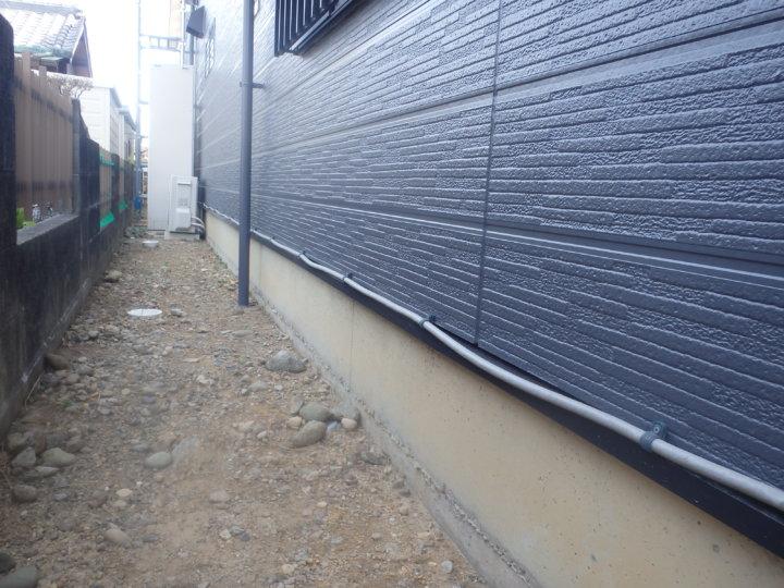 外壁・水切塗装完成