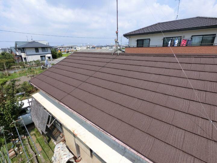 屋根改修完了