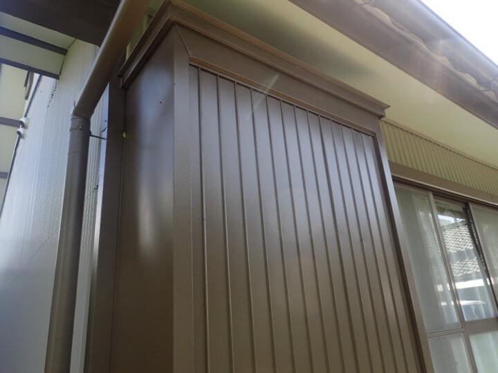 戸袋塗装完成