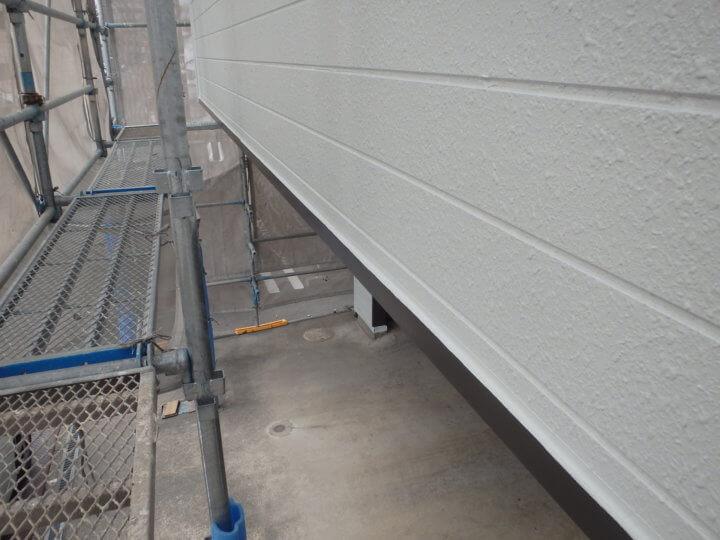 ベランダ外壁塗装完了
