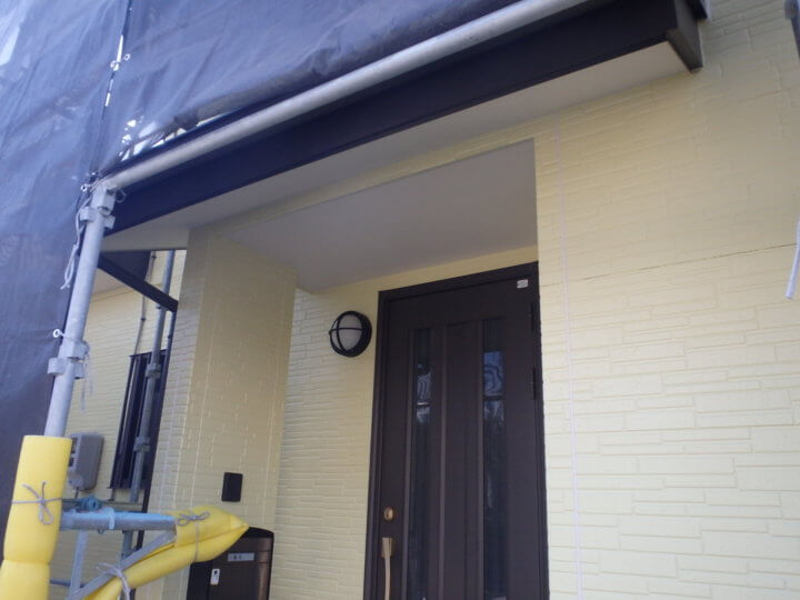 玄関塗装完成