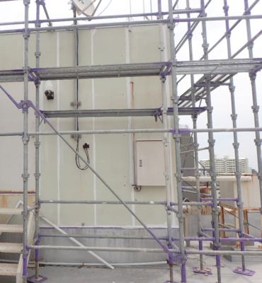 浜松市外壁塗装のことなら浜松塗装専門店|加藤塗装 高層ビル補修工事 ALC外壁 シーリング改修砂山ショールーム ハーネス命綱