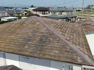 浜松市南区中区外壁屋根塗装専門店 加藤塗装 改修工事 補修 カバー工法 スレート屋根 シーガード