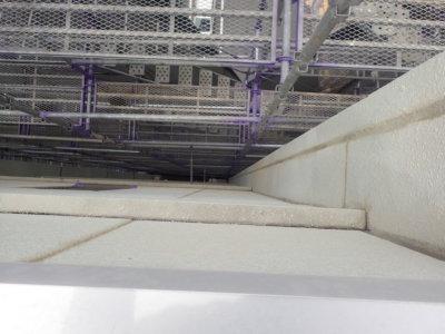 高層ビル外壁塗装 ALC シーリング 足場工事 ハーネス 命綱 浜松市外壁塗装屋根塗装防水工事 安心安全 加藤塗装 シーリング改修 修理補修 ひび割れ