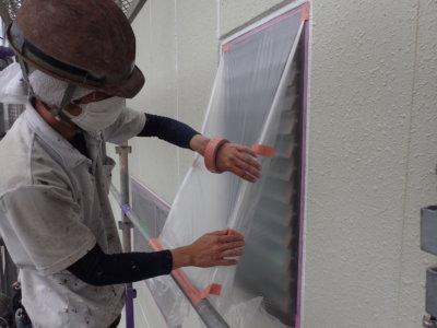 外壁塗装のことなら浜松塗装専門店|加藤塗装 新型コロナウイルス対策 養生 熱中症 窓を塞ぐ 密閉空間 工夫 職人 換気 気遣い
