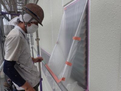 外壁塗装のことなら浜松塗装専門店|加藤塗装 新型コロナウイルス対策 養生 熱中症 窓を塞ぐ 密閉空間 工夫 職人 換気 気遣い ビニル養生