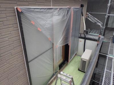 外壁塗装のことなら浜松塗装専門店|加藤塗装 新型コロナウイルス対策 養生 熱中症 窓を塞ぐ 密閉空間 工夫 職人 換気 気遣い 一戸建て住宅 ベランダ窓