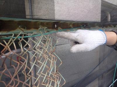 6月5日ロゴマークの日 加藤塗装 フェンス取り外しフックカーテン取り付け