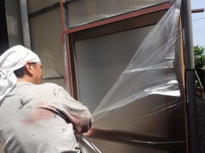 外壁塗装の事なら浜松塗装専門店|加藤塗装 浜松市東区 養生 倉庫