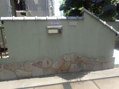 塀浜松市南区遠州浜施工事例外壁塗装の事なら浜松塗装専門店|加藤塗装外構塀塗装門塀和色施工前