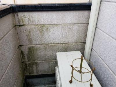 外壁の汚れ藻コケ微生物外壁塗装の事なら浜松塗装専門店 加藤塗装 プロの職人直伝 ベランダ コケ