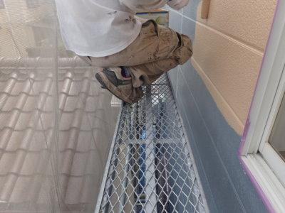中塗り塗装 エスケー化研 水性セラミシリコン 外壁塗装の事なら浜松塗装専門店|加藤塗装 カラーシュミレーション足場架設狭い45cm