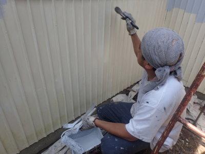 南区東町一戸建て住宅 外壁塗装の事なら浜松塗装専門店|加藤塗装 錆止め塗装 塩害
