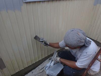 南区東町一戸建て住宅 外壁塗装の事なら浜松塗装専門店|加藤塗装 錆止め塗装 塩害 下塗り