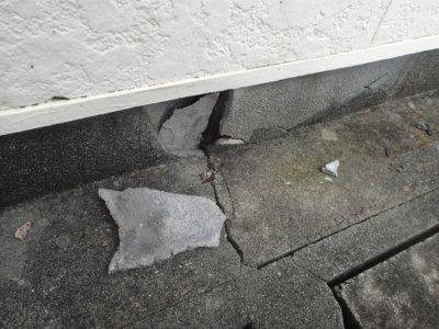 外壁落書き部分消し外壁塗装の事なら浜松塗装専門店|加藤塗装対策防犯カメラ迷惑防止法塗料基礎コンクリート割れた剥離