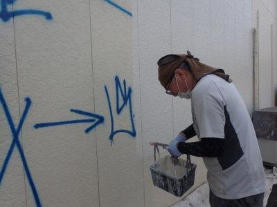 外壁落書き部分消し外壁塗装の事なら浜松塗装専門店|加藤塗装対策防犯カメラ迷惑防止法