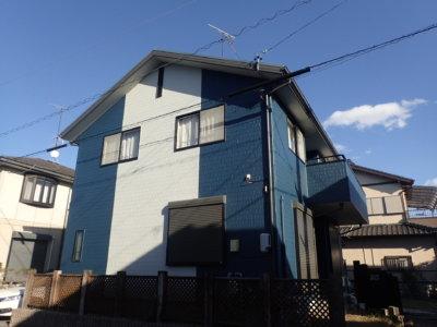 ツートンカラー縦ライン外壁塗装の事なら浜松塗装専門店|加藤塗装