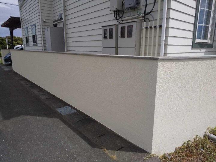 外構塀塗装完成
