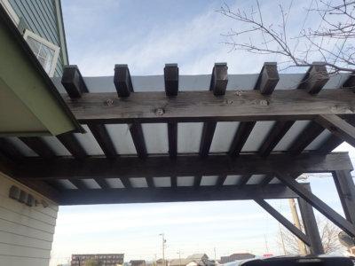 gl-proカーポート木部塗装浜松市外壁塗装の事なら浜松塗装専門店|加藤塗装ガードラックプロ色塗り方ブラウン耐久年数耐用年数