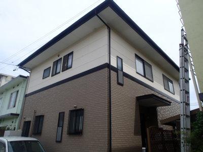 浜松市南区遠州浜外壁塗装工事が始まりました。外壁塗装の事なら浜松塗装専門店 加藤塗装タイル調外壁レンガ調