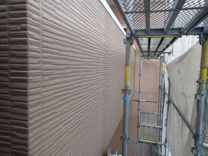 ベランダ外壁塗装完成