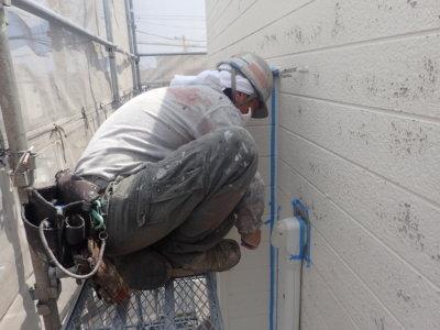 シーリング養生まるでシルクドソレイユ外壁塗装の事なら浜松塗装専門店 加藤塗装熱中症対策