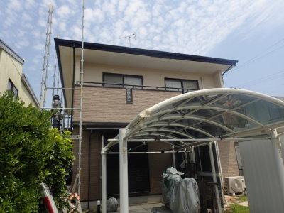 浜松市南区遠州浜外壁塗装工事が始まりました。外壁塗装の事なら浜松塗装専門店 加藤塗装