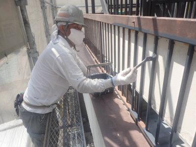令和8月お盆帰省外壁塗装の事なら浜松塗装専門店|加藤塗装ベランダ鉄部手摺錆止め塗料腐食防止丁寧店舗付き住宅