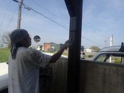 カーポート木部塗装浜松市外壁塗装の事なら浜松塗装専門店|加藤塗装