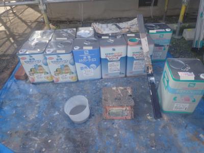 塗料缶塗装工事内容ホワイトボードコミュニケーション加藤塗装外壁塗装の事なら