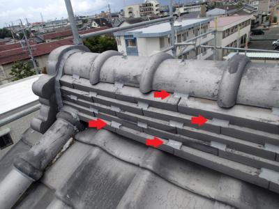 間違い瓦補修ラバーロック工法 加藤塗装 浜松市中区神田町 口コミ 修繕 台風被害 雨漏り