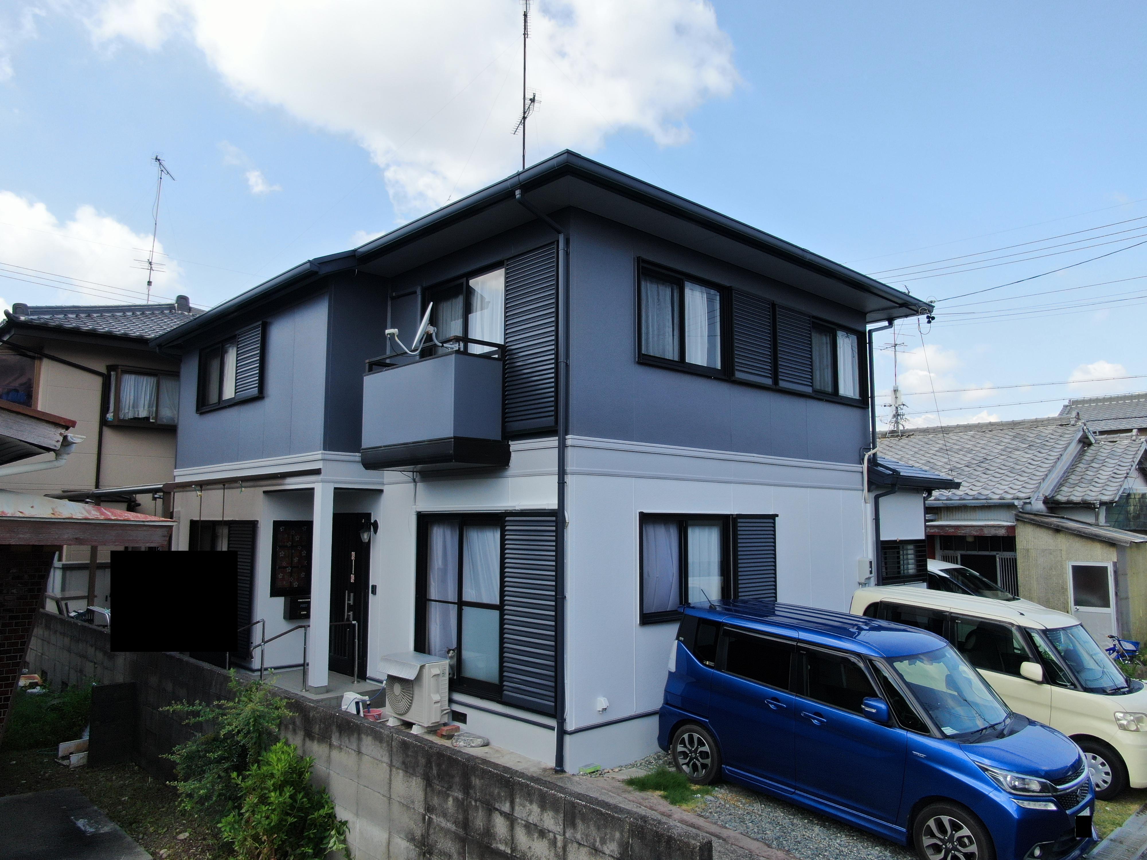 浜松市南区三和町Kさま外壁・屋根塗装完成しました。外壁塗装の事なら浜松塗装専門店|加藤塗装