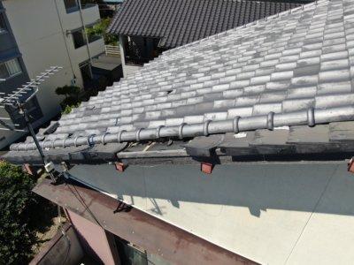 瓦修繕補修欠損台風外壁塗装の事なら浜松塗装専門店|加藤塗装