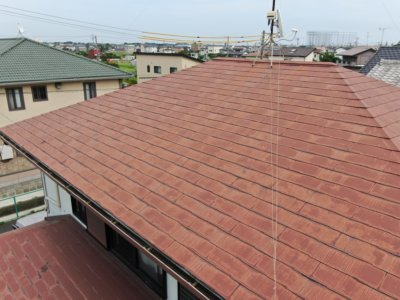 浜松市南区三和町施工事例加藤塗装屋根ヤネフレッシュシリコン