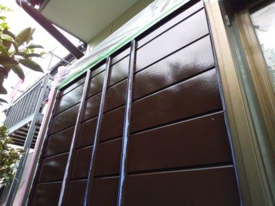 浜松市南区遠州浜平屋住宅トタン外壁破風塗装雨戸戸袋塗りたて